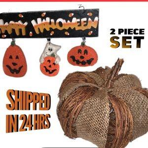 Halloween Light Up Pumpkin & Sign Decorations